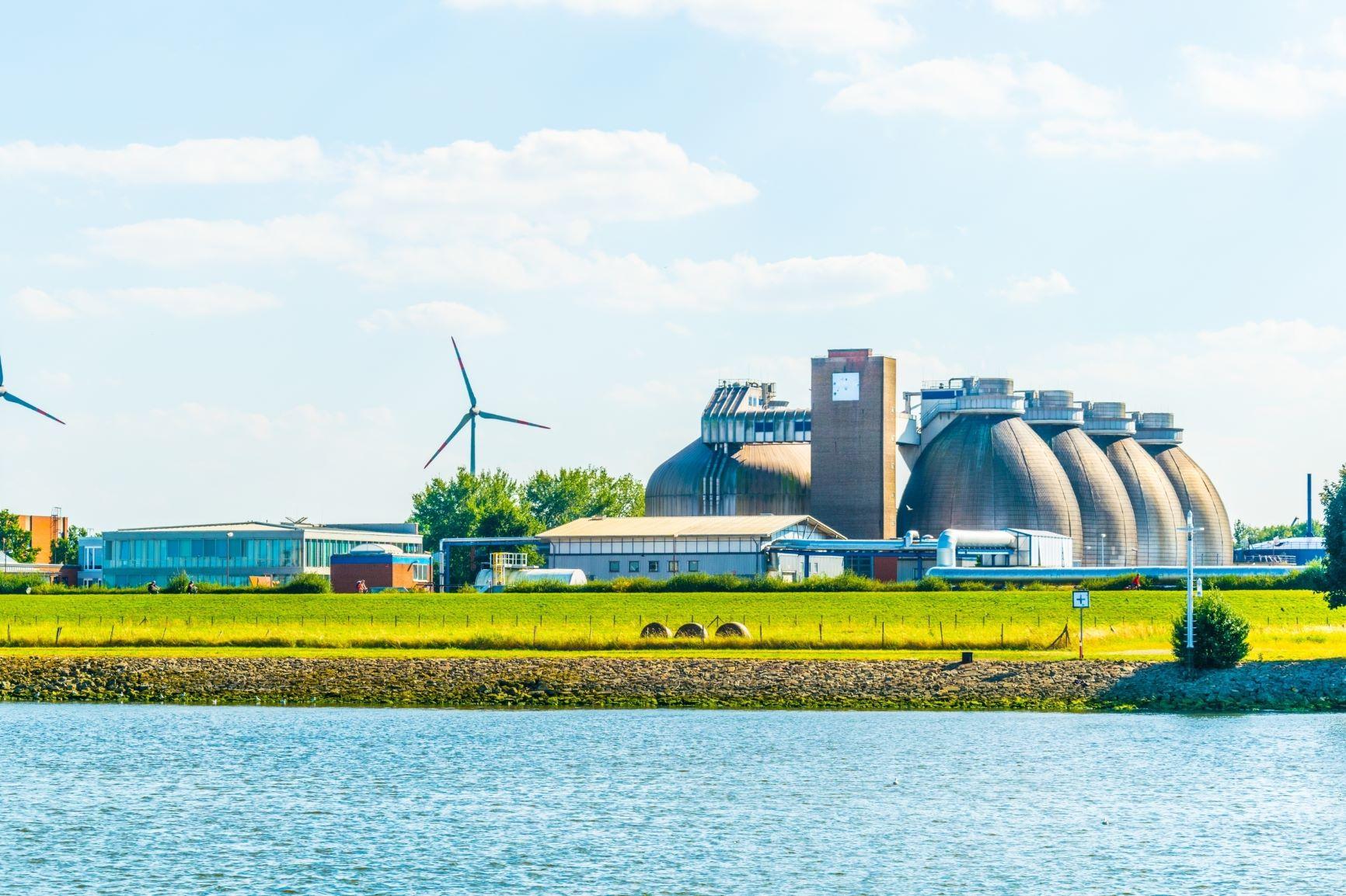 Modern biogáz üzem Brémában
